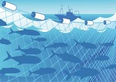 Pêche en mer illustration de vecteur