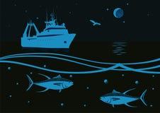 Pêche en mer Photographie stock libre de droits