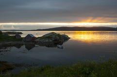 Pêche en Norvège Image libre de droits