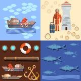 Pêche industrielle dans les océans Images libres de droits
