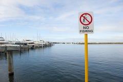 Pêche interdite Photographie stock