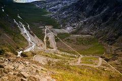 Pêche la route, Norvège Photos libres de droits