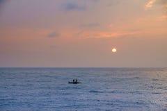 Pêche le matin Photos libres de droits