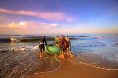 Pêche pendant un nouveau jour Photo stock