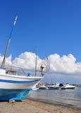 pêche sèche de dock de bateau vieille Photographie stock libre de droits