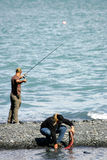 Pêche saumonée Photos stock