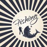 Pêche sportive de logo Photographie stock libre de droits