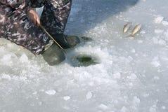 Pêche sur la glace Photographie stock