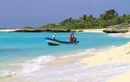 Pêche sur la mer des Caraïbes Images stock