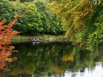 Pêche sur la rivière Tay Images libres de droits