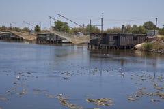 Pêche sur le fleuve Image stock