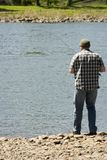 Pêche sur le fleuve Images stock