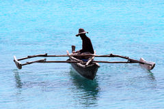 Pêcheur à Zanzibar Images stock