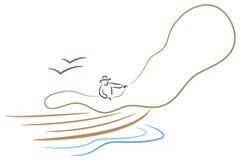 Pêcheur illustration stock