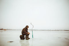 Pêcheur. Photo stock