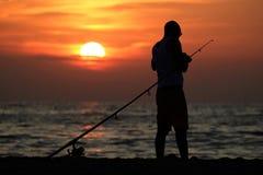 Pêcheur 01 Image libre de droits