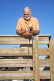 Pêcheur aîné Photographie stock libre de droits