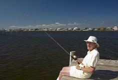 Pêcheur aîné Photo libre de droits