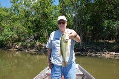Pêcheur aîné photo stock