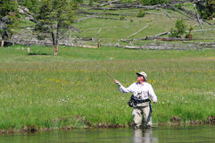 Pêcheur aîné actif Photographie stock