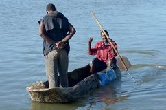 Pêcheur africain Photo stock