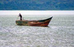Pêcheur africain Image libre de droits