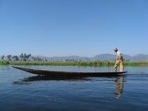 Pêcheur asiatique   Image libre de droits