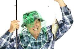 Pêcheur avec le réseau Photos libres de droits