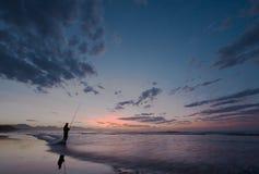 Pêcheur déterminé Photo libre de droits