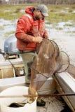 Pêcheur d'anguille Photo libre de droits