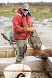 Pêcheur d'anguille Image libre de droits