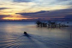 Pêcheur d'Asiatique de durée Images libres de droits