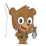 Pêcheur d'ours illustration libre de droits