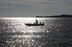 Pêcheur dans la clé de cèdre, la Floride Images libres de droits