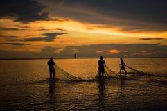 Pêcheur de Bagan Lalang Images stock