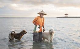 Pêcheur de Bali Image libre de droits