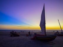 Pêcheur de bateau Photo stock