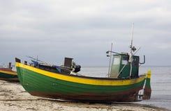 pêcheur de bateau Images libres de droits