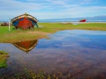 Pêcheur de bateau Image stock