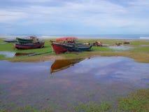 Pêcheur de bateau Photos libres de droits