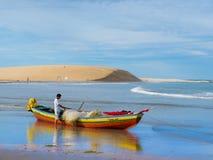Pêcheur de bateau Photo libre de droits