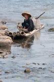 Pêcheur de Cormorant Images stock