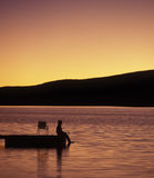 pêcheur de dock Photo libre de droits