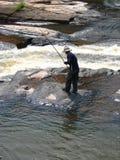 Pêcheur de fleuve Photographie stock libre de droits