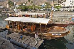 Pêcheur de Galillee de bateau de visite Image libre de droits