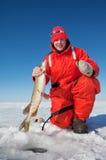 Pêcheur de glace photo stock