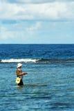 Pêcheur de la Guam Photographie stock libre de droits