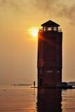 Pêcheur de lever de soleil Photos libres de droits
