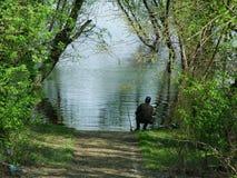 Pêcheur de pêche   Photographie stock libre de droits
