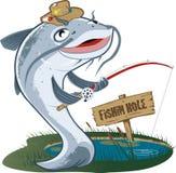 Pêcheur de poisson-chat Photo stock